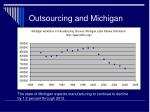 outsourcing and michigan