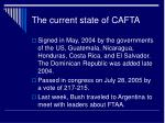 the current state of cafta