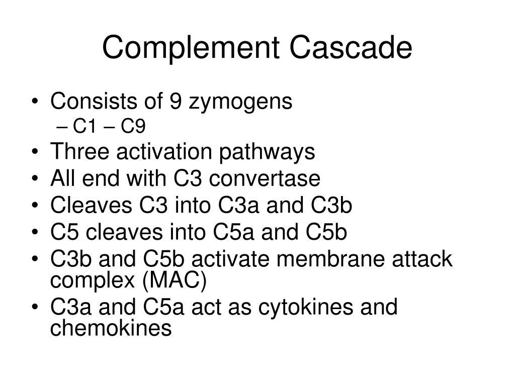 Complement Cascade