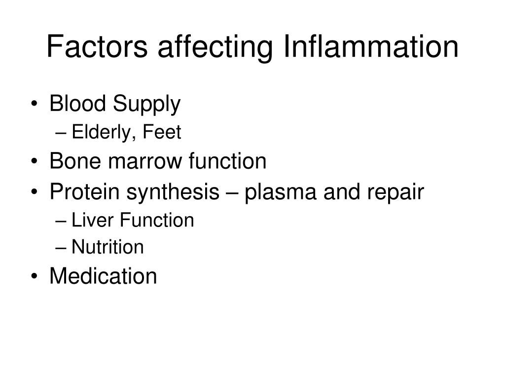 Factors affecting Inflammation