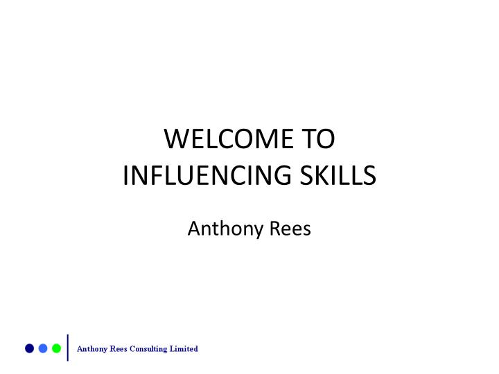 welcome to influencing skills n.