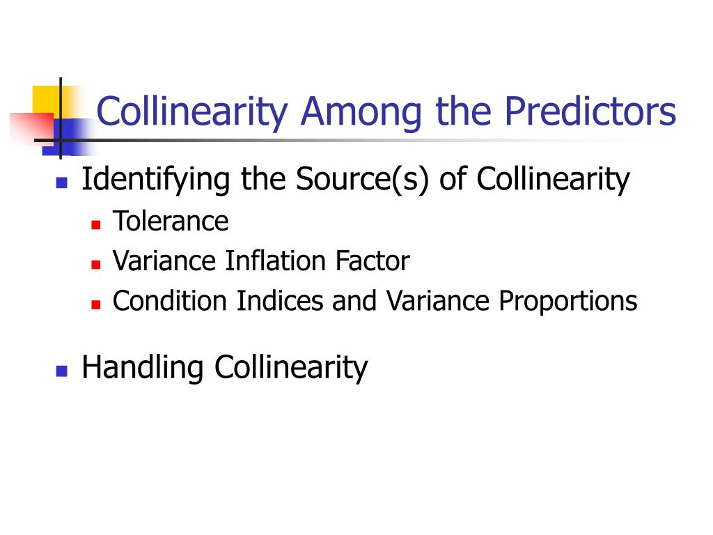 Collinearity Among the Predictors