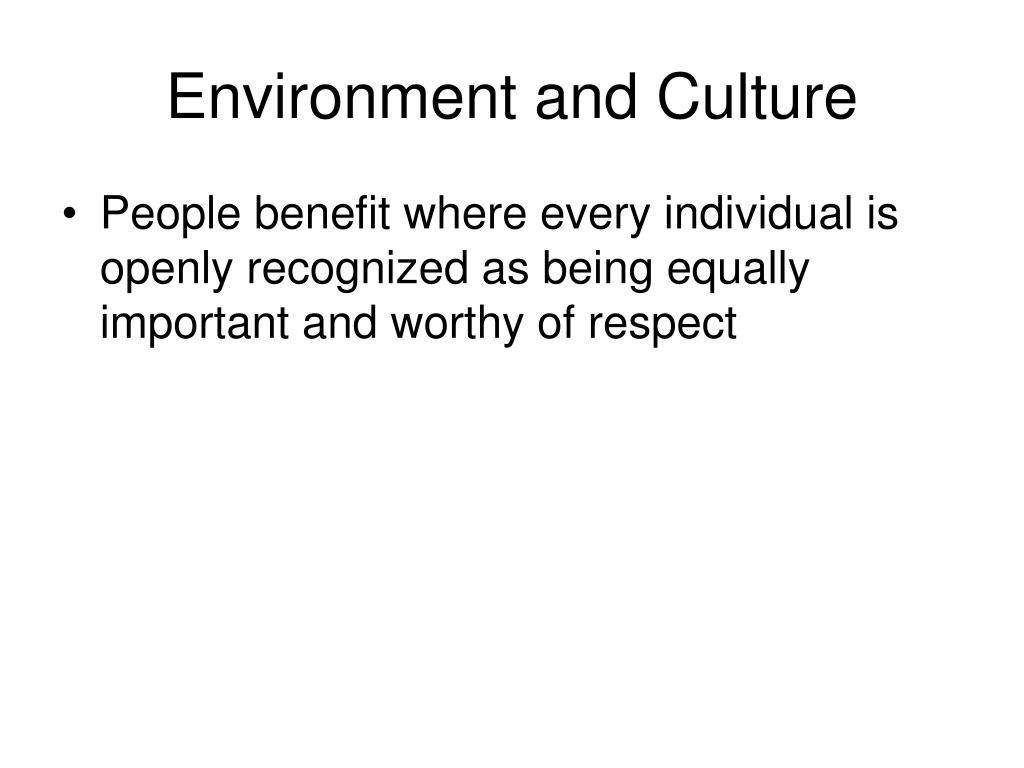 Environment and Culture