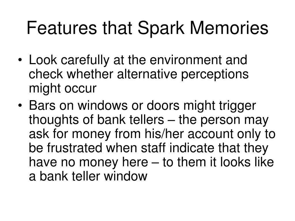 Features that Spark Memories