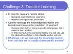 challenge 3 transfer learning