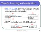 transfer learning to classify web