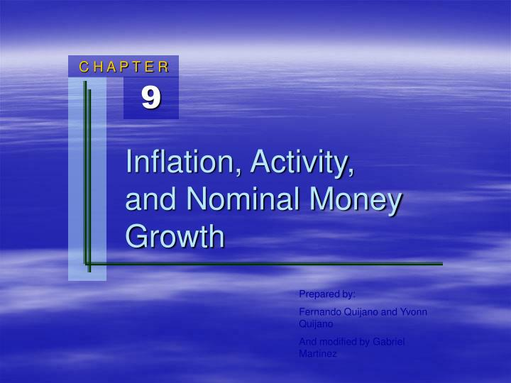 inflation activity and nominal money growth n.