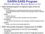 darpa ears program e ffective a ffordable r eusable s peech to text