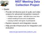 nist meeting data collection project