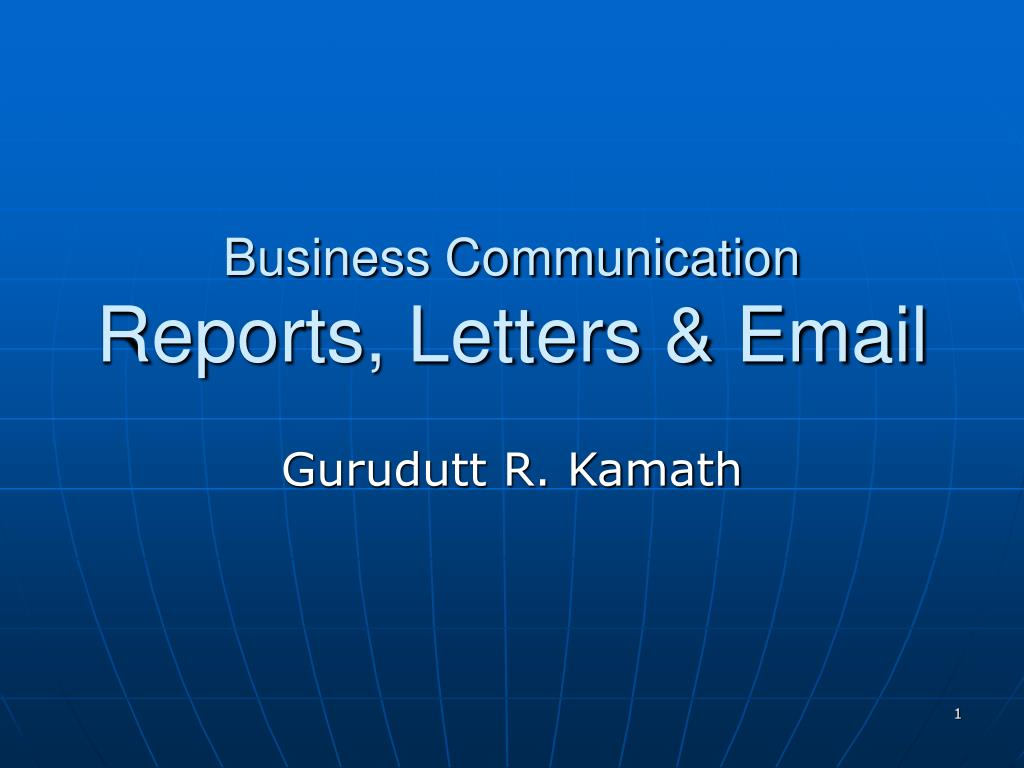 business communication reports letters email l.
