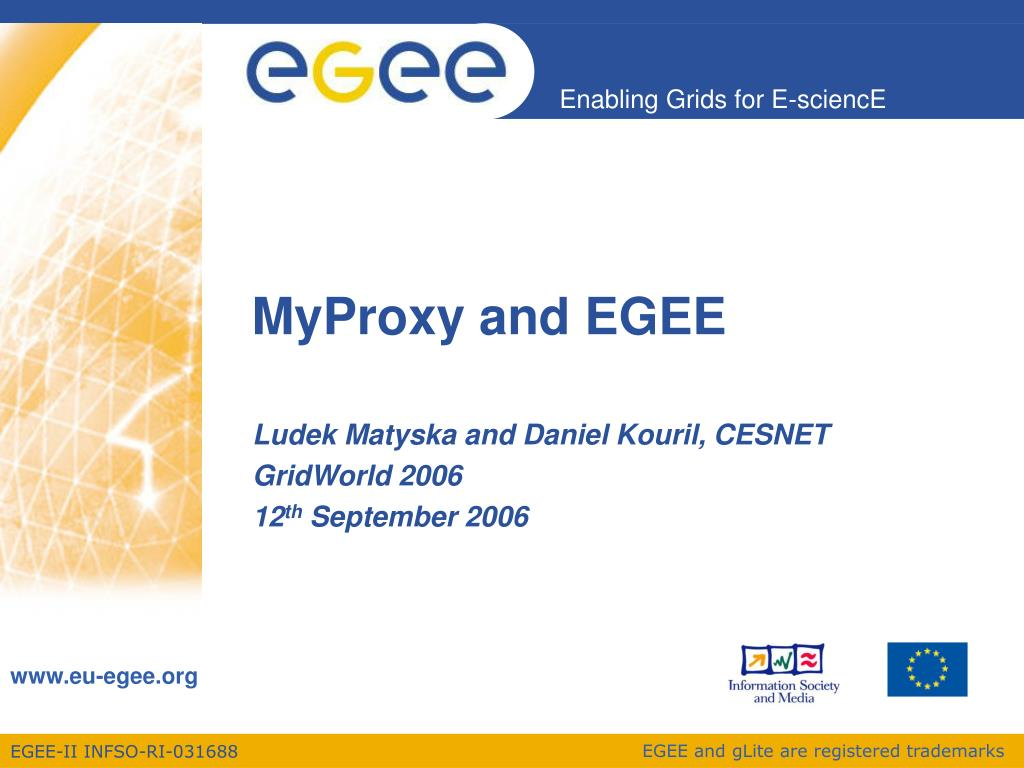 myproxy and egee l.