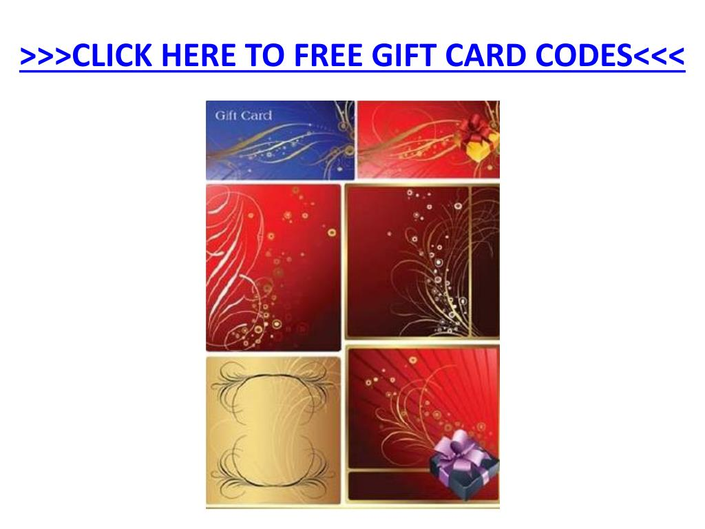 click here to free gift card codes l.