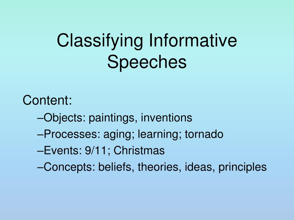 Classifying Informative Speeches