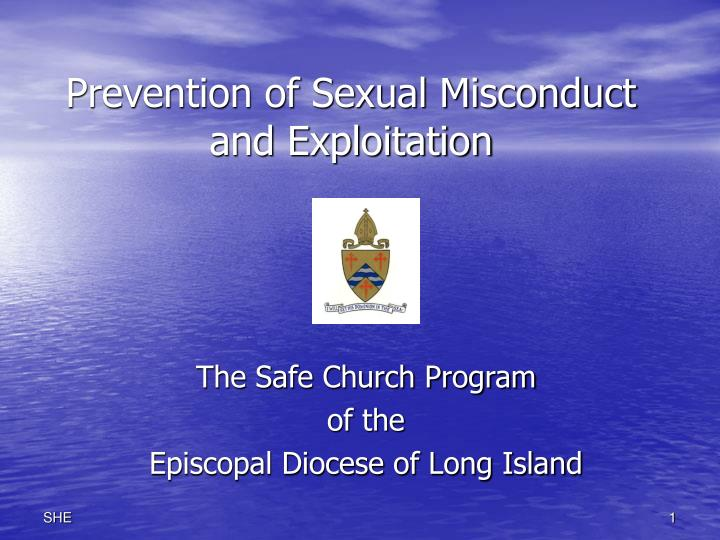 prevention of sexual misconduct and exploitation n.