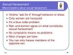 sexual harassment misconceptions about sexual harassment
