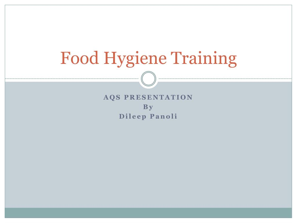 food hygiene training l.