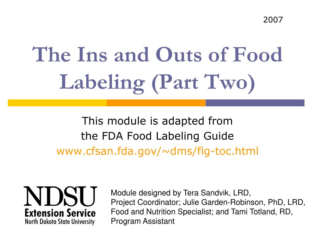 the ins and outs of food labeling part two l.
