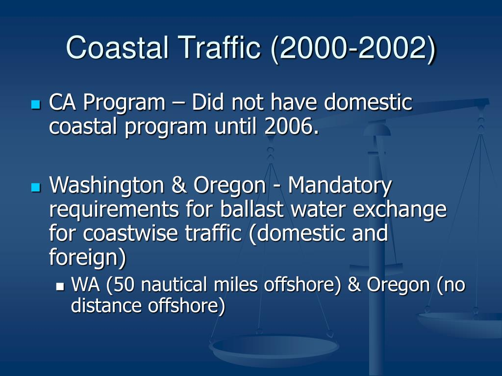 Coastal Traffic (2000-2002)