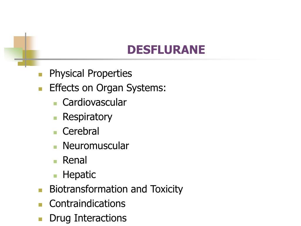 DESFLURANE