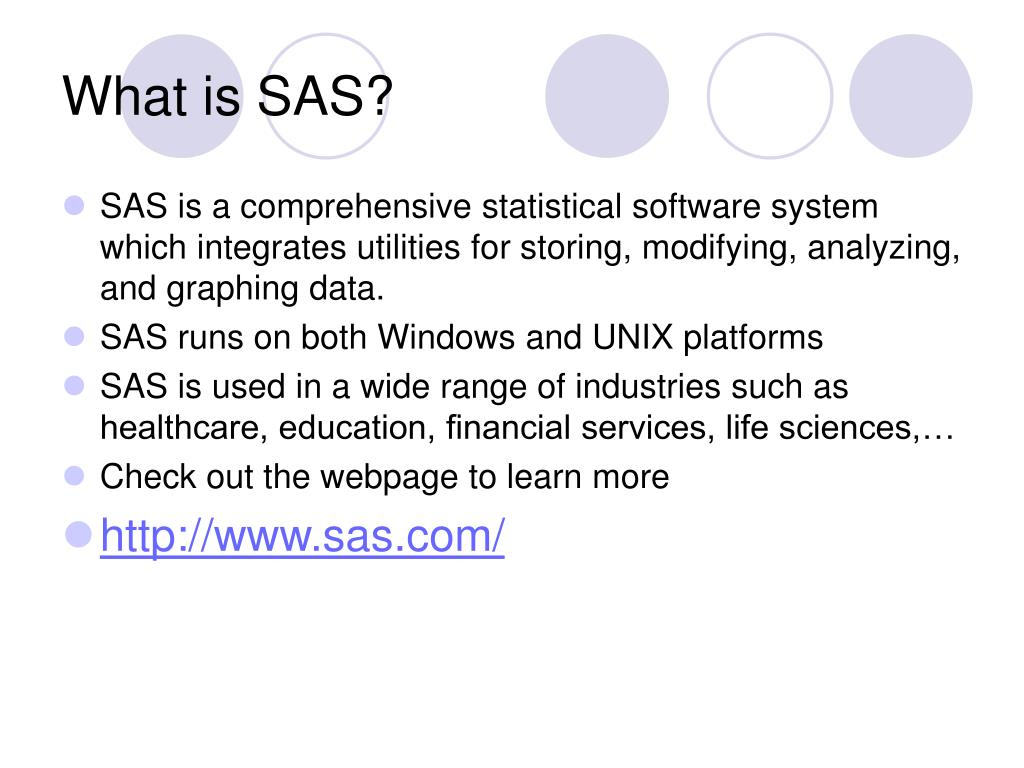 PPT - Introduction to SAS PowerPoint Presentation - ID:394384