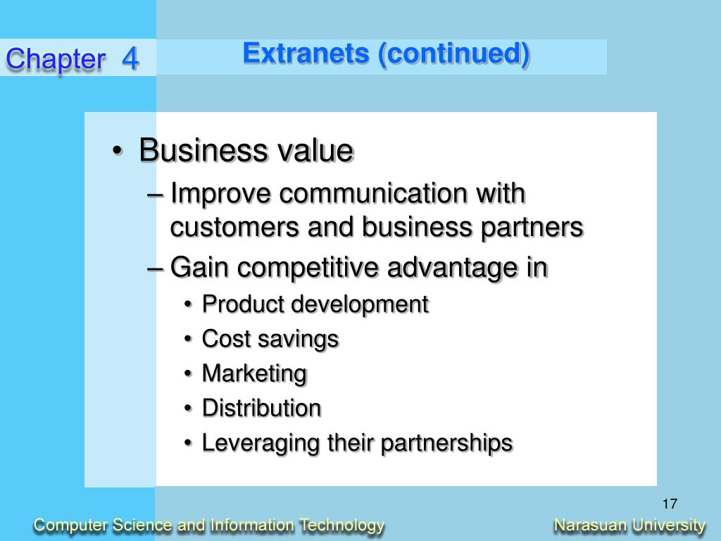 Extranets (continued)