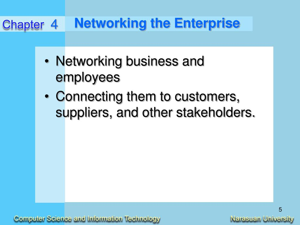 Networking the Enterprise