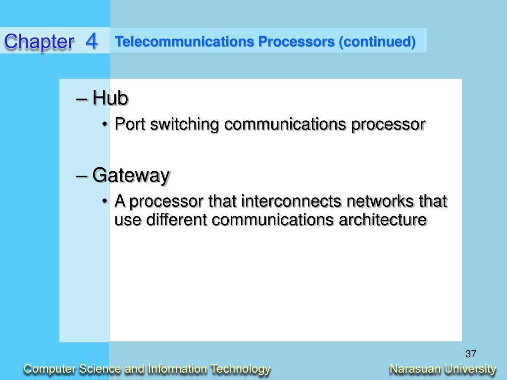Telecommunications Processors (continued)