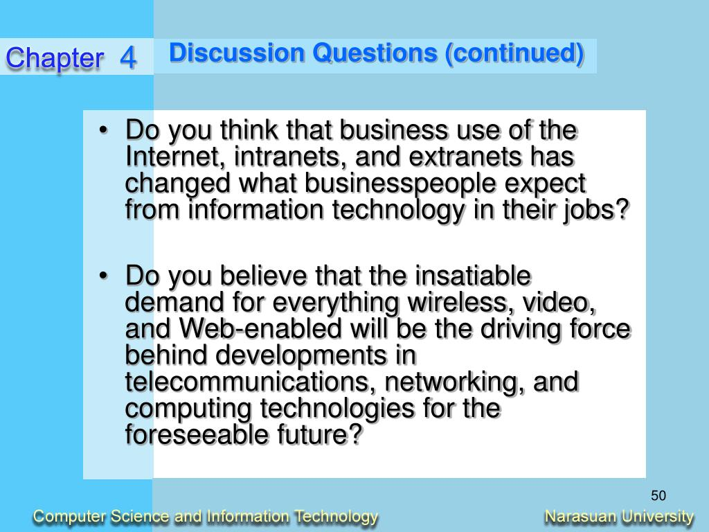 Discussion Questions (continued)
