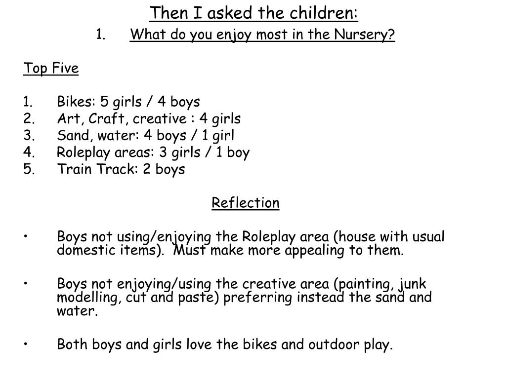 Then I asked the children: