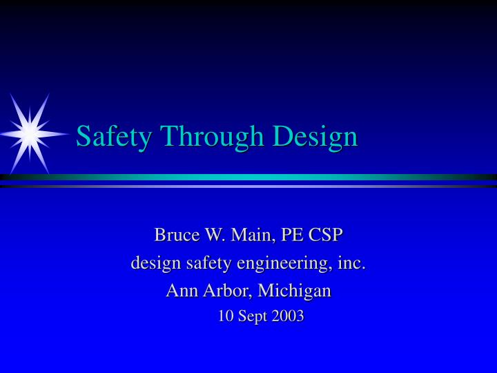 safety through design n.
