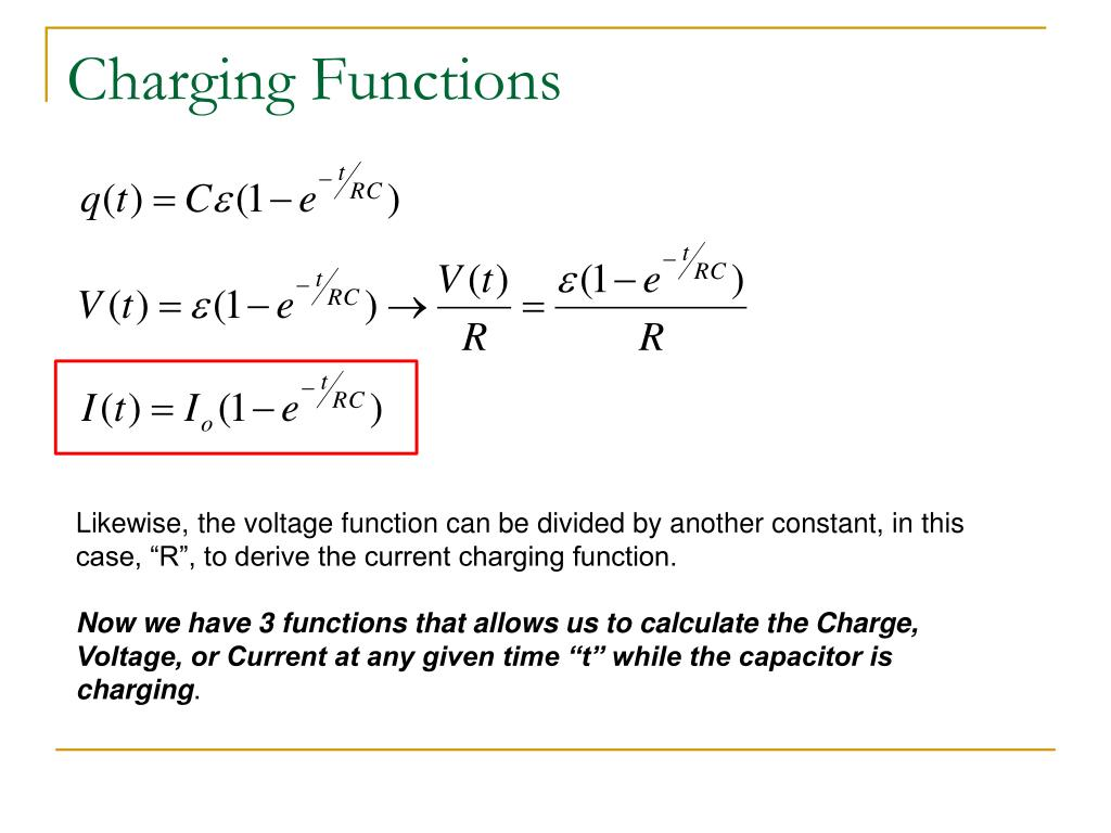 PPT - RC (Resistor-Capacitor) Circuits PowerPoint