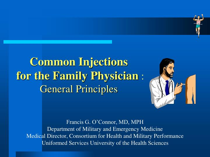 common injections for the family physician general principles n.