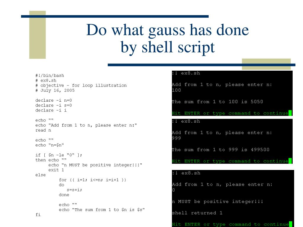 PPT - Introduction to Linux Shell Script Programming
