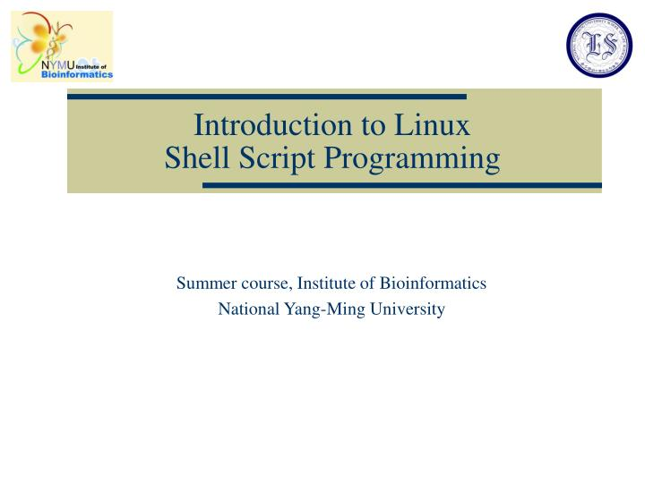 introduction to linux shell script programming n.
