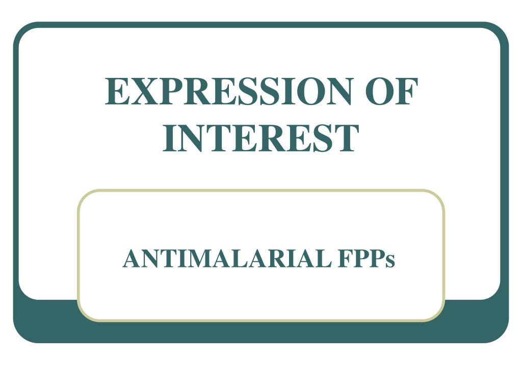EXPRESSION OF INTEREST