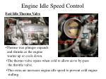 engine idle speed control