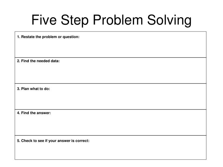 Ppt frayer model powerpoint presentation id394984 five step problem solving ccuart Image collections