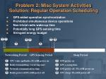 problem 2 misc system activities solution regular operation scheduling