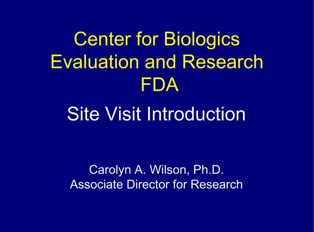 Center for Biologics
