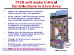 iter will make critical contributions in each area