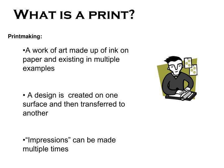 what is a print n.