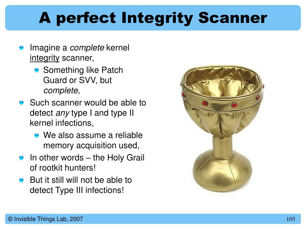 A perfect Integrity Scanner