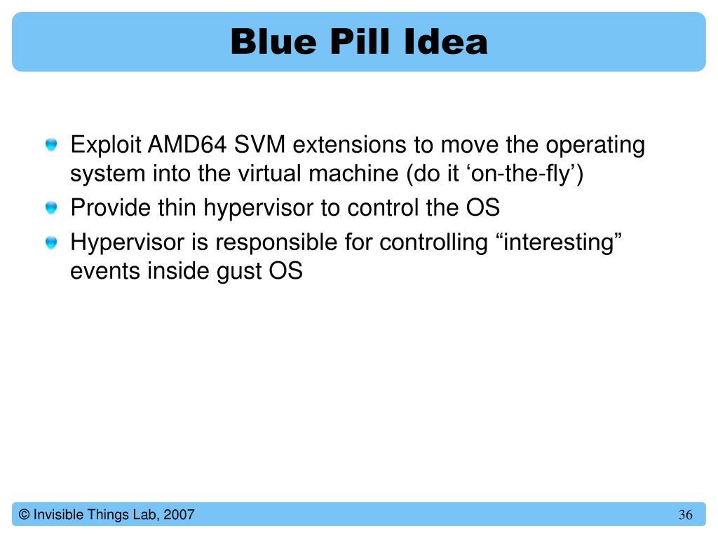 Blue Pill Idea