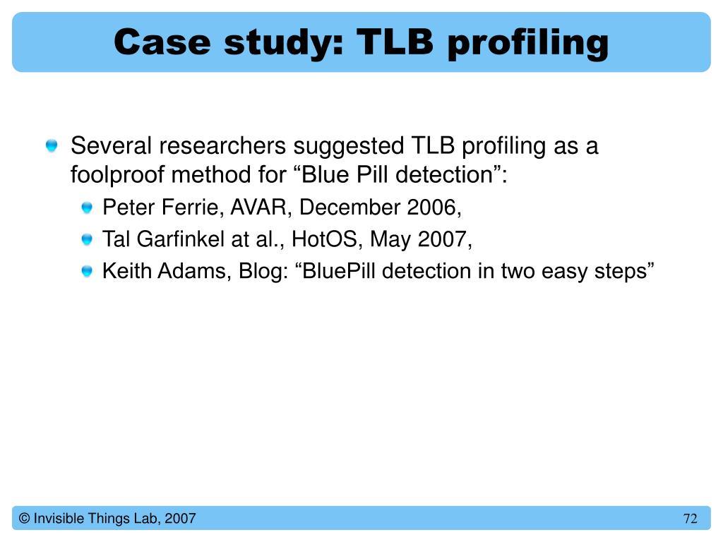 Case study: TLB profiling