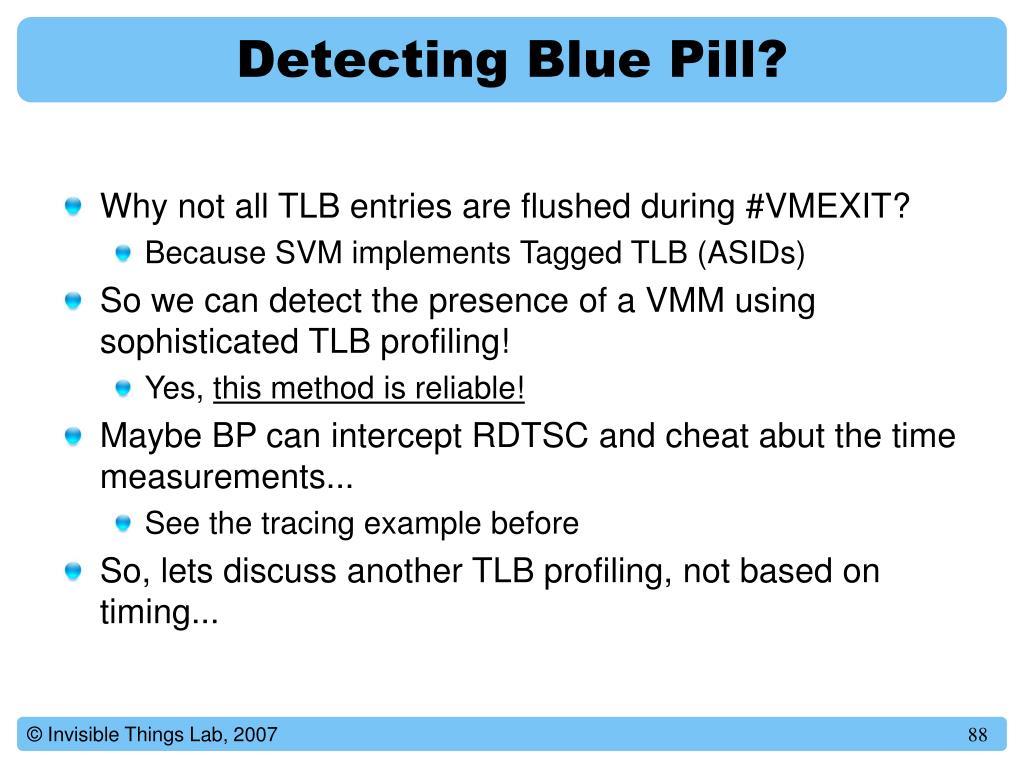Detecting Blue Pill?