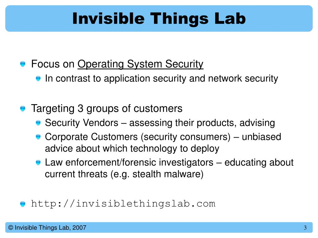 Invisible Things Lab