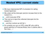 nested vpc current state