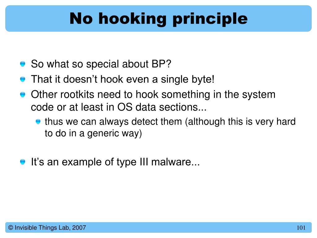 No hooking principle