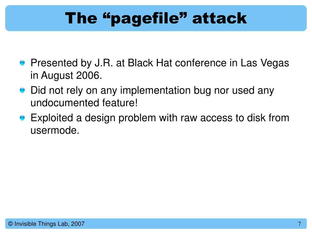 """The """"pagefile"""" attack"""