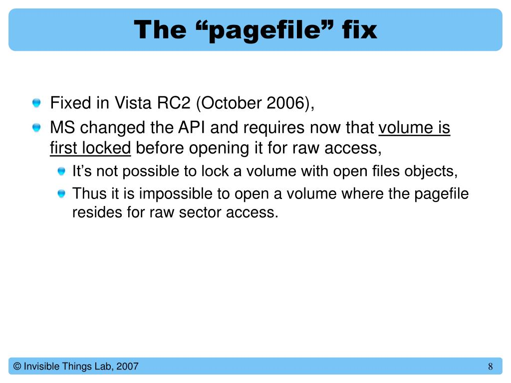 """The """"pagefile"""" fix"""